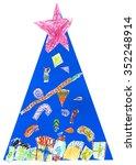 children's christmas tree | Shutterstock . vector #352248914