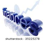 finance economy trend concept... | Shutterstock . vector #35225278