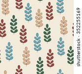 vector childish seamless floral ... | Shutterstock .eps vector #352255169