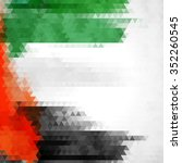 uae colors art  united arab... | Shutterstock .eps vector #352260545
