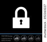 padlock icon  vector... | Shutterstock .eps vector #352263227