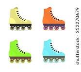 roller skates in flat style | Shutterstock .eps vector #352270679