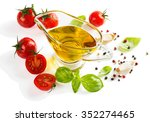 olive oil in a glass sauceboat  ... | Shutterstock . vector #352274465