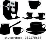 coffee silhouette   vector | Shutterstock .eps vector #352275689