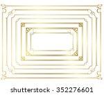 decorative gold frame set vector | Shutterstock .eps vector #352276601