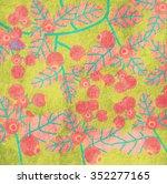 berry. vector background | Shutterstock .eps vector #352277165