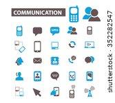 communication  connect  ... | Shutterstock .eps vector #352282547