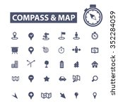 compass  map icons  signs set ... | Shutterstock .eps vector #352284059