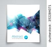 abstract triangular 3d... | Shutterstock .eps vector #352284071