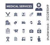 medical and health care  icons  ... | Shutterstock .eps vector #352285049