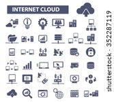 internet cloud icon  clouding ... | Shutterstock .eps vector #352287119