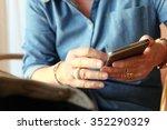 image of older woman using...   Shutterstock . vector #352290329