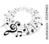 music sign vector | Shutterstock .eps vector #352294601