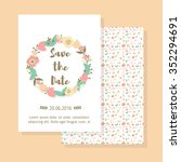 save the date vintage card ... | Shutterstock .eps vector #352294691