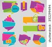 money saving  vector collection ... | Shutterstock .eps vector #352299494