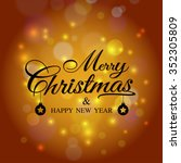 merry christmas greeting card... | Shutterstock .eps vector #352305809