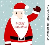 santa claus card merry christmas | Shutterstock .eps vector #352308749