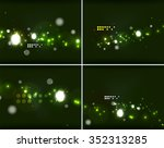 set of abstract backgrounds... | Shutterstock .eps vector #352313285