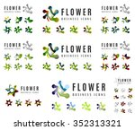 set of company logotype... | Shutterstock .eps vector #352313321