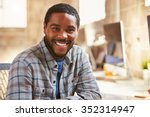 portrait of male designer... | Shutterstock . vector #352314947