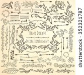 hand drawn decoration elements. | Shutterstock .eps vector #352321787