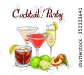 the unforgettables cocktail set ... | Shutterstock . vector #352323641