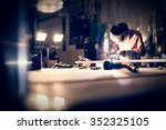 welding aluminum using tig... | Shutterstock . vector #352325105