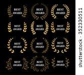 best award vector gold award... | Shutterstock .eps vector #352330511