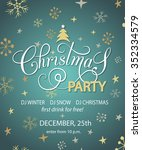 christmas party invitation for... | Shutterstock .eps vector #352334579