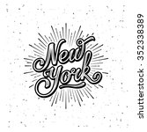 new york typography with... | Shutterstock .eps vector #352338389