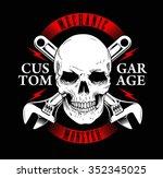 mechanic monster or garage... | Shutterstock .eps vector #352345025