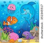 ocean fauna topic image 1  ... | Shutterstock .eps vector #352345517