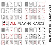 simple set  all playing cards | Shutterstock .eps vector #352349015