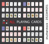 simple set  all playing cards | Shutterstock .eps vector #352349051