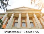 hall building in college | Shutterstock . vector #352354727