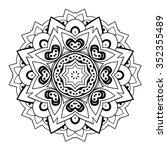 round ornament. ethnic mandala. ... | Shutterstock .eps vector #352355489
