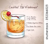 old fashioned cocktail ... | Shutterstock . vector #352366025