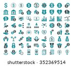 financial business glyph icon... | Shutterstock . vector #352369514
