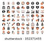 financial business vector icon... | Shutterstock .eps vector #352371455