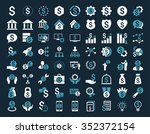 financial business vector icon... | Shutterstock .eps vector #352372154