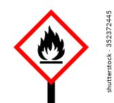 fire warning sign | Shutterstock .eps vector #352372445