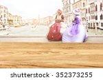 wooden desk space in venice  | Shutterstock . vector #352373255