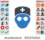 medic head vector icon. style... | Shutterstock .eps vector #352376561