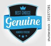 badge label genuine | Shutterstock .eps vector #352377281
