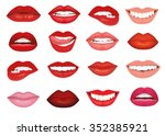 female lips with a smile. the... | Shutterstock .eps vector #352385921