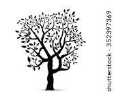 black tree silhouette isolated... | Shutterstock .eps vector #352397369