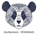 panda bear grizzly closeup...   Shutterstock .eps vector #352404641