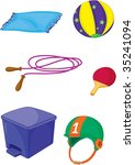 illustration of various objects ... | Shutterstock . vector #35241094