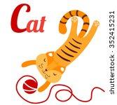 a vector illustration of cute... | Shutterstock .eps vector #352415231