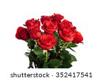 Stock photo rose bouquet isolated on white 352417541
